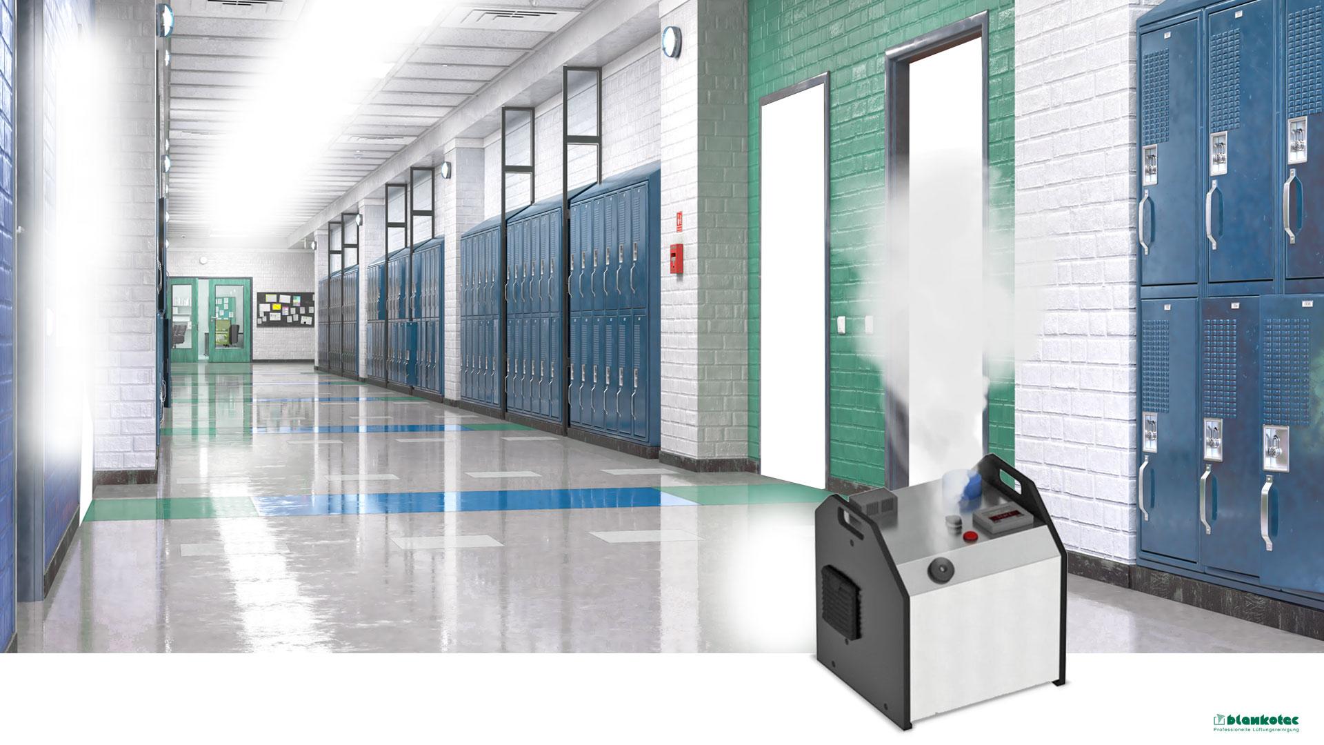 Blankotec-Aerosol-Wasserstoffperoxid-Desinfektion